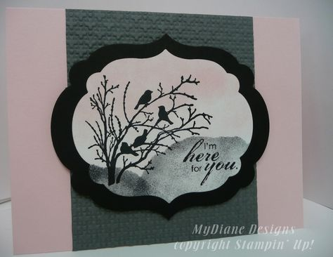 MyDiane Designs, Stampin Up, Handmade cards, cards, Serene Silhouettes, Blooming with Kindness