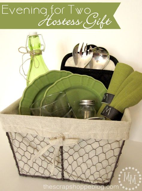 """Create a """"evening for two"""" hostess gift basket using products from @Carla Costephens Plus World Market!"""