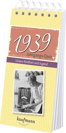 Jahrgangs Quiz 1939 Interessantes Geschenk Zum 80 Geburtstag