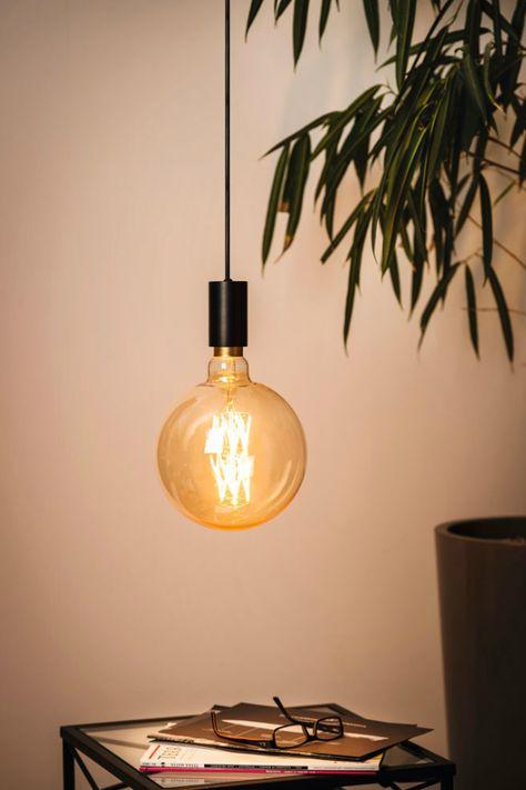 Ampoule Filaments Croisés Led Globe 200mm Compatible