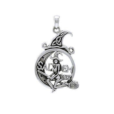 15 best witches images on pinterest witches sterling silver salem witch 1692 silver halloween pendant aloadofball Choice Image
