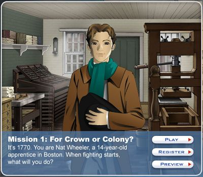 The American Revolution Online Game This Could Accompany