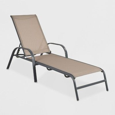 Tremendous Stack Sling Patio Chaise Lounge Chair Tan Threshold In Squirreltailoven Fun Painted Chair Ideas Images Squirreltailovenorg