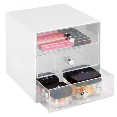 3 Drawer Plastic Makeup Cosmetic Storage Organizer Plastic
