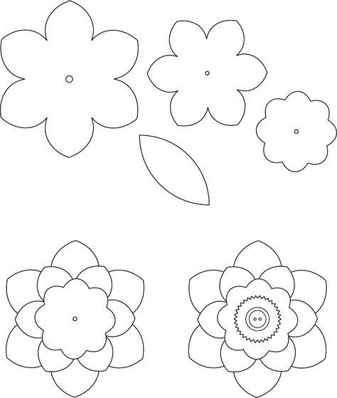 Flower Template 1 трафареты цветы Pinterest Template, Flower - flower template