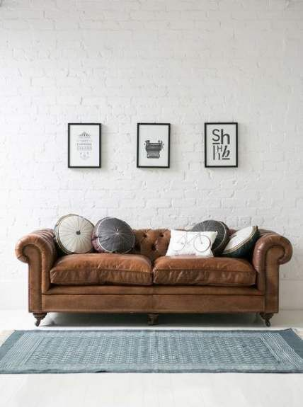Living Room Brown Couch Leather Sofas
