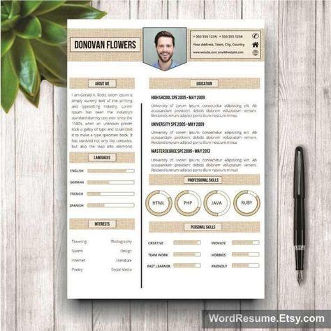 2-page resume template Resume fonts, Marketing resume and Cover - 2 page resume template