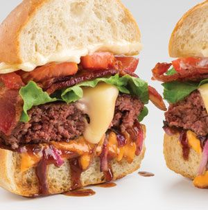 We've doubled nearly everything on this Home-Style Double Cheeseburger. Double the cheese. Double the condiments. Double the bacon. What's not to love?