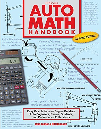 Download Pdf Auto Math Handbook Hp1554 Easy Calculations For
