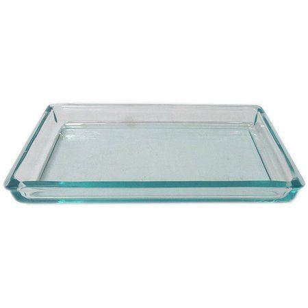 Home Blue Vanity Vanity Tray Glass Vanity