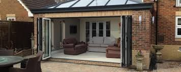 Image result for narrow lean to conservatory with bifold doors ...