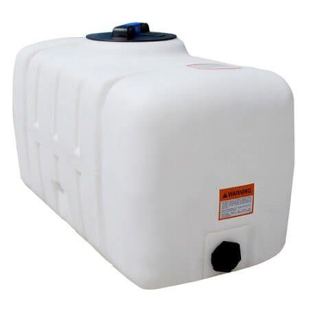 100 Gallon Flat Bottom White Utility Tank Norwesco 42343 Gallon Tank Utilities