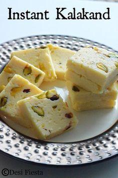 Recorta Condensed Milk Pistacios And Spices Make Up This 10min Kalakand Recipe Kalakand Recipe Indian Desserts Indian Dessert Recipes