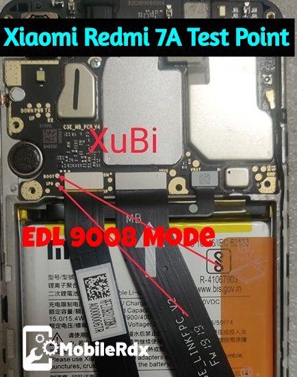 Xiaomi Redmi 7A Test Point - EDL 9008 Mode