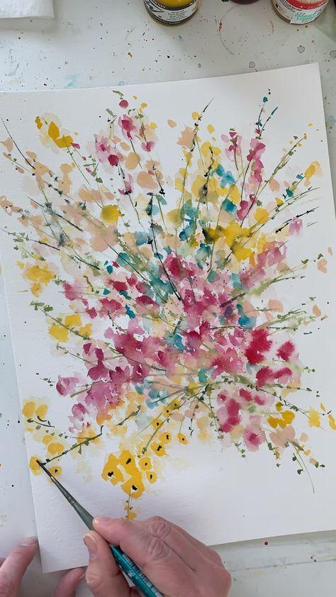 Painting wildflowers in watercolor