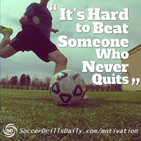 As a soccer player, sometimes you need a little help staying motivated to keep training hard. Our soccer motivation section is updated weekly to keep you training hard Basketball Tricks, Soccer Drills, Soccer Coaching, Soccer Tips, Soccer Training, Soccer Players, Soccer Videos, Golf Tips, Citation Football