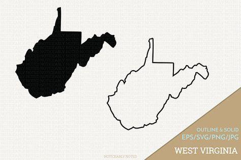 West Virginia Vector State Clipart Wv Clip Art West Etsy Clip Art Illustration Design West Virginia