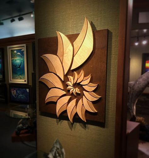 32x46 Wood Sculpted Shell Shell Wood Pieces Are Sculpted From 34