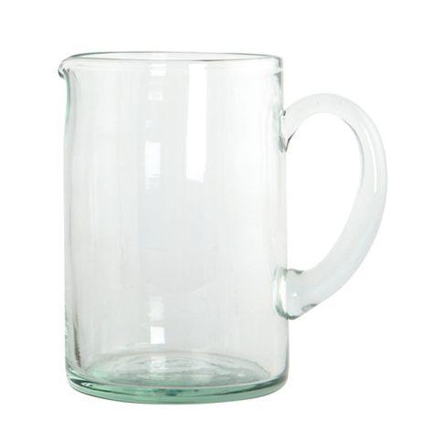 Pichet en verre transparent avec anse H2O House Doctor À acheter - komposteimer für die küche