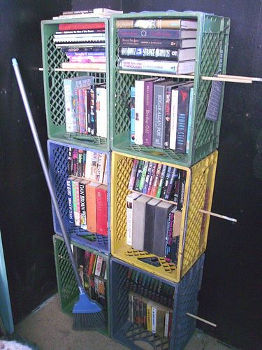 Idea By Nita Carr On Plastic Crates Milk Crate Furniture Milk Crate Storage Crate Shelves