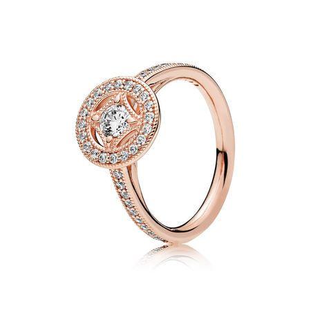 Vintage Circle Ring Pandora Rose Pandora Wedding Ring Pandora Rose Gold Rings