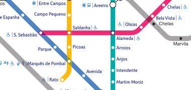 Mapa Del Metro De Lisboa Voy A Lisboa Guia De Lisboa Map