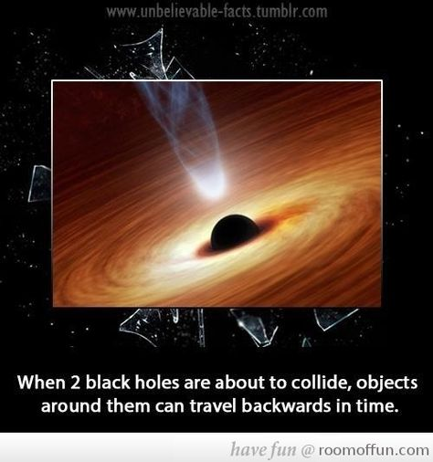 Did you know that when two black holes are about to collide...