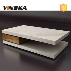 Image Result For White Marble And Wood Two Tier Coffee Table