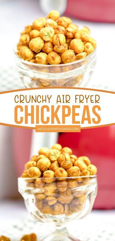 Crunchy Crispy Air Fryer Chickpeas Make A Wonderful Snack Recipe Healthy Snacks Recipes Delish Recipes Recipes