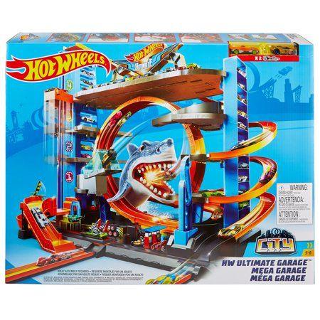 Hot Wheels Ultimate Garage Tower Shark Loop Racetrack 2 Vehicles Set Walmart Com Hot Wheels Ultimate Garage Hot Wheels Hot Wheels Track
