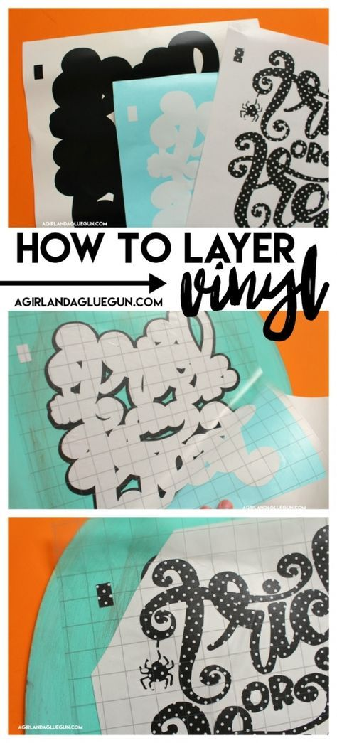 How to layer adhesive vinyl | Craft ideas | Cricut, Cricut