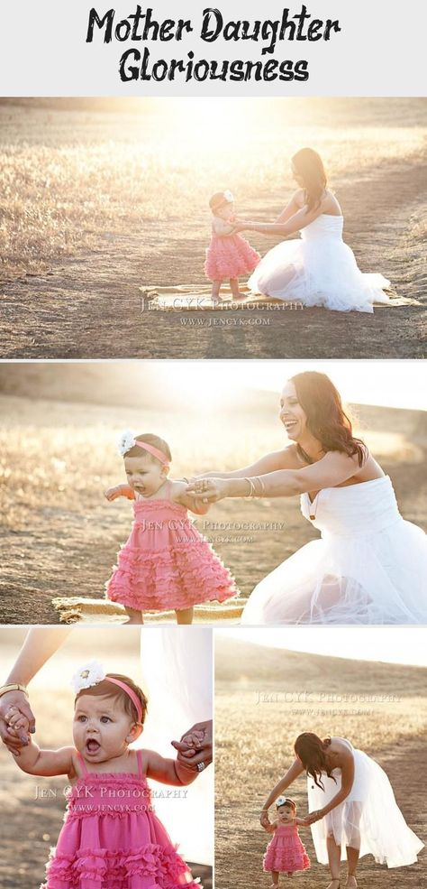 #Baby #daughter #Gloriousness #mother Mother daughter pictures in a wedding dress. DOES NOT GET ANY MORE GORGEOUS! Sweetest #mother #daughter #poses JEN CYK PHOTOGRAPHY #momandbabyFashion