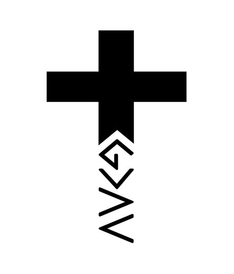God is greater than the highs and lows Cross Sticker by move-mtns - White Background -