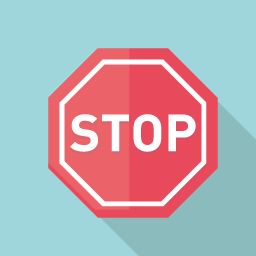 フラットデザインのアイコン 交通標識のstopのアイコン素材 交通標識 アイコン素材 標識のデザイン