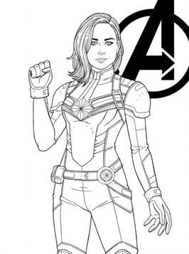 Nice Coloring Page Captain Marvel On Kids N Fun Marvel Drawings Marvel Coloring Captain Marvel