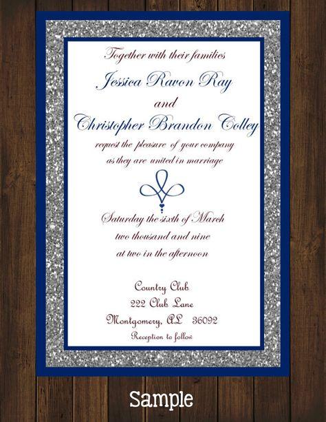 Printyourown Blue Royal Wedding Invitation By Printyourowninvites