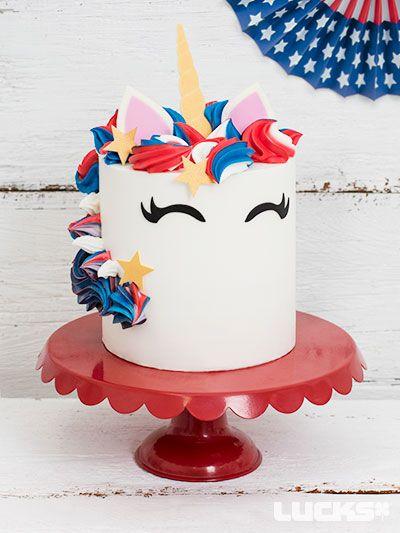 Incredible Fourth Of July Unicorn Cake 4Th Of July Cake Fourth Of July Funny Birthday Cards Online Inifofree Goldxyz