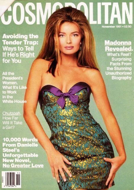 November 1991 cover with Paulina Porizkova photographed by the late Francesco Scavullo