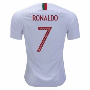 cheaper a14b6 0d1f9 2018 World Cup Jersey Portugal Away Ronaldo Replica White ...