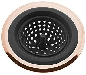 Cook With Color Flexible Silicone Good Grips Kitchen Sink Strainer Rose Gold Copper Large Wide 4 5 Diameter Rim Bla Kitchen Sink Strainer Kitchen Kitchen Sink