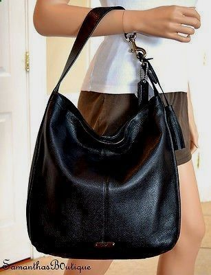 Soft Leather Large Hobo Bag