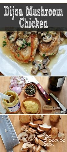 {USA} Dijon Mushroom Chicken - a quick and super-easy weeknight meal! | The Creekside Cook |#chicken #mushrooms #easydinner