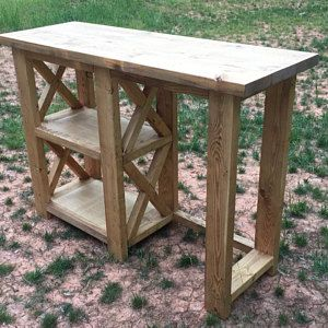 Rustic X Console Table Farmhouse X Table Entryway Table Farmhouse Console Table Farmhouse Coffee Bar Cool Tables
