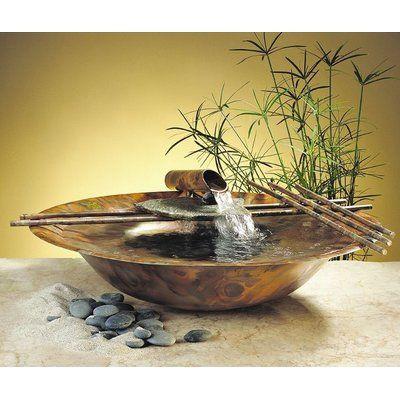 Ceramic Nature Bowl Tabletop Fountain In 2021 Tabletop Fountain Tabletop Water Fountain Water Fountain