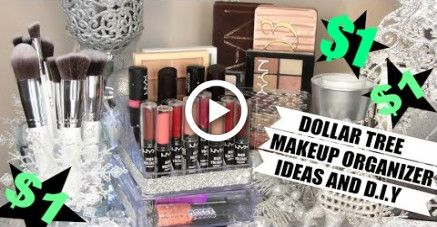 $1 Makeup Organizers Dollar Tree Ideas and D.I.Y diy