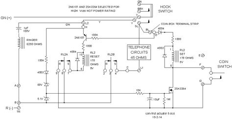 wiring harness diagram for a payphone - google search