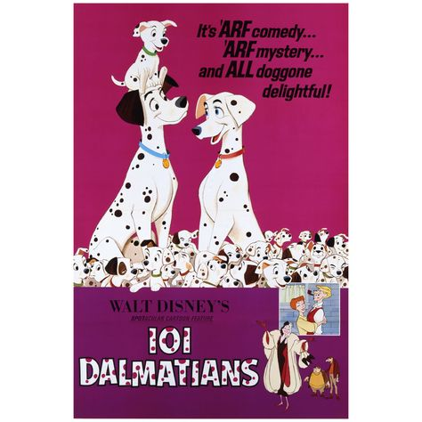 101 Dalmatians: Movie Poster Mural - Officially Licensed Disney Removable Wall Adhesive Decal Large by Fathead | Vinyl