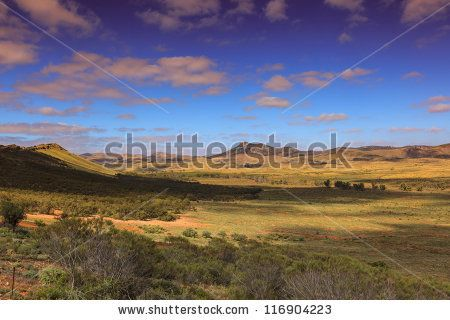 View Over The Vastness Of The Australian Outback Stock Photos