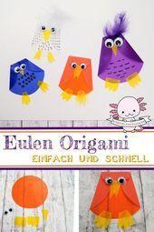 Photo of Eulen Origami basteln