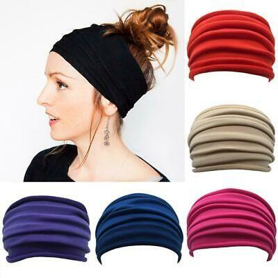 Elastic Bandana Headband Long Hair Head Wrap Running Cycling Sport Turban **